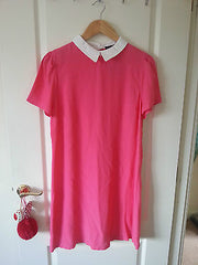 Primark Pink/Coral White Collared Shift Dress by Atmosphere Size 12 - Click. Buy. Love. - 3