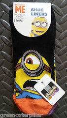 MINIONS PRIMARK DESPICABLE ME WOMEN'S SOCKS 3 PAIRS SIZES 4-8 EU37-42 Shoe Liner - Click. Buy. Love. - 1