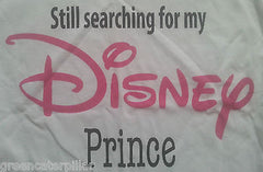 Primark Disney Prince T-SHIRT 'Still searching for my' ladies womens white 6-20 - Click. Buy. Love. - 4