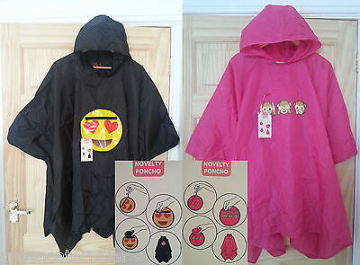 Poncho Primark Emoji Heart Monkey Coat Ladies Womens EMOTIONS ICON One Size NEW - Click. Buy. Love. - 1