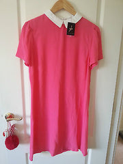 Primark Pink/Coral White Collared Shift Dress by Atmosphere Size 12 - Click. Buy. Love. - 1