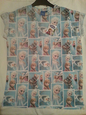 PRIMARK LADIES DISNEY FROZEN OLAF SNOWMAN ELSA ANNA T SHIRT TEE top - Click. Buy. Love.