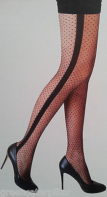 Sexy Tights PRIMARK Ladies Wide Seam & Spot Fashion Stockings Pantyhose S-XL NEW - Click. Buy. Love. - 1