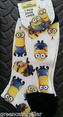 Primark SOCKS Minions Emoji Snoopy Emojicon Womens Ladies Girls sizes 4 - 8 new - Click. Buy. Love. - 4