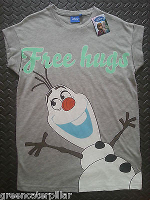 DISNEY Frozen Olaf FREE HUGS T Shirt Primark 6-20  NEW - Click. Buy. Love.