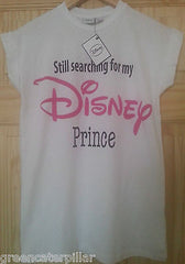Primark Disney Prince T-SHIRT 'Still searching for my' ladies womens white 6-20 - Click. Buy. Love. - 3