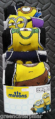 MINIONS MOVIE 5 PACK PRIMARK SOCKS SIZES 6 - 12 ( EU 39 - 46) - Click. Buy. Love. - 1