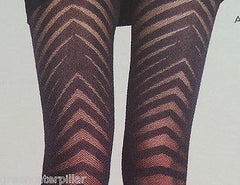 Sexy Tights PRIMARK Ladies Chevron Fashion Stockings Pantyhose Small - XL NEW - Click. Buy. Love. - 3