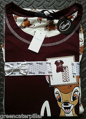 Ladies BAMBI PRIMARK DISNEY PJ PYJAMA SET New sizes 6 - 20 - Click. Buy. Love. - 1