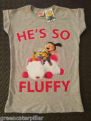 Primark Minions T-Shirt He's So Fluffy Jumper PJ Bottoms Socks Womens Ladies NEW - Click. Buy. Love. - 5