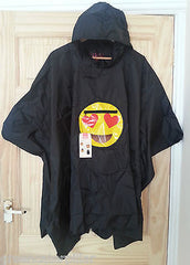 Poncho Primark Emoji Heart Monkey Coat Ladies Womens EMOTIONS ICON One Size NEW - Click. Buy. Love. - 3