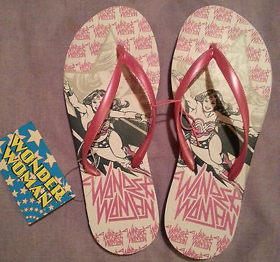 Official WONDER WOMAN Flip Flops Thongs Sandals Primark (Sizes3-8) - Click. Buy. Love.