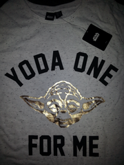 Primark Star Wars T Shirt 'Yoda one for me' Womens Ladies UK 6-20 NEW - Click. Buy. Love. - 4