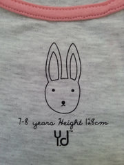 PRIMARK Girls T-SHIRT 'Jump' With Bunny Rabbit Logo Sizes 7 - 13 Years - Click. Buy. Love. - 6