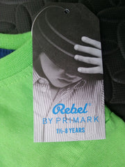 Primark Boys T-Shirt 'Here Comes Trouble' Green Sizes 1-8 years - Click. Buy. Love. - 3