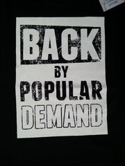 Primark Boys T-Shirt 'Back By Popular Demand' Black Sizes 1-8 years - Click. Buy. Love. - 2