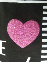 PRIMARK Girls T-SHIRT 'I Wish It Was The Weekend' With Heart Logo Sizes 7 - 13 Years - Click. Buy. Love. - 2