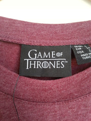 Primark Game Of Thrones T Shirt GoT burgundy Womens Ladies UK 6-20 NEW - Click. Buy. Love. - 3
