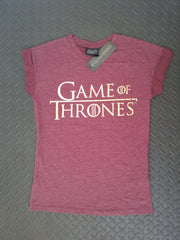Primark Game Of Thrones T Shirt GoT burgundy Womens Ladies UK 6-20 NEW - Click. Buy. Love. - 4