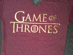 Primark Game Of Thrones T Shirt GoT burgundy Womens Ladies UK 6-20 NEW - Click. Buy. Love. - 5
