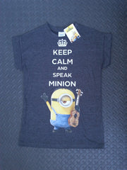 Primark MINIONS T Shirt Keep Calm And Speak Minion womens ladies Top Sizes 6-20 - Click. Buy. Love. - 5
