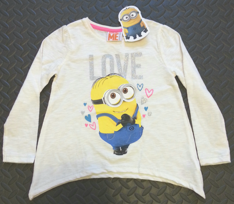 PRIMARK Minions GIRLS T SHIRT 'LOVE' TOP 3 - 5 years NEW - Click. Buy. Love. - 1