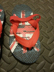 Primark Union Jack Flip Flops Boy's UK Flag Sandals Thongs kids UK Sizes 6 - 11 - Click. Buy. Love. - 4