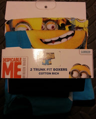Primark Minions Boy's Pants Despicable Me Trunk Boxers 2 Pack Size 2 - 12 Years - Click. Buy. Love. - 2