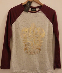 Primark Harry Potter T Shirt Raglan Crest Gryffindor Burgundy Ladies UK 6-20 - Click. Buy. Love. - 4