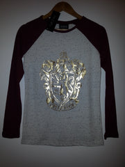 Primark Harry Potter T Shirt Raglan Crest Gryffindor Burgundy Ladies UK 6-20 - Click. Buy. Love. - 3