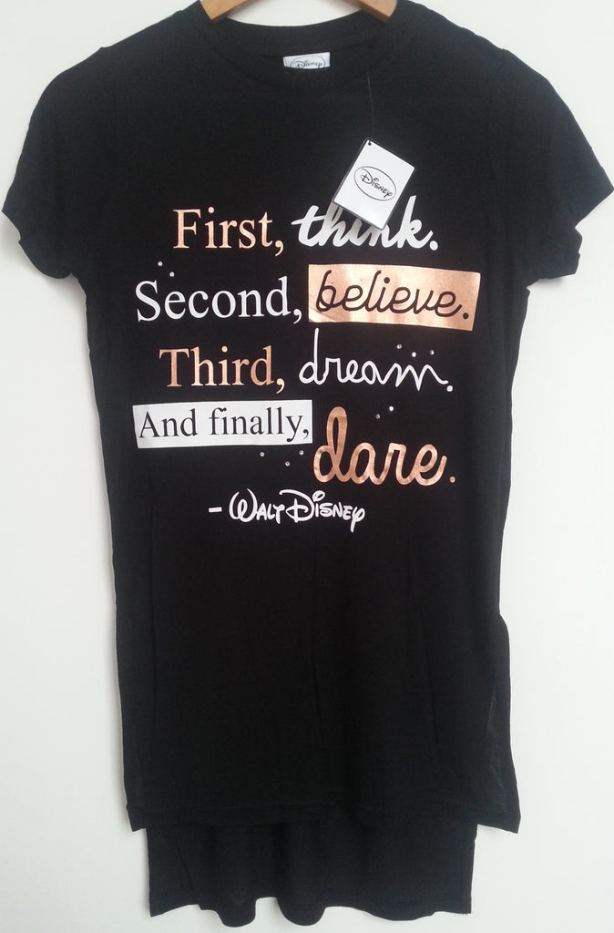 Primark Disney T Shirt Walt Quote First, Second, Third Womens Ladies Sizes 6-20 - Click. Buy. Love. - 1