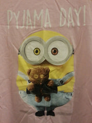 PRIMARK MINIONS T Shirt PJ Pyjama Day Pink Bob Sizes 8 - 22 new - Click. Buy. Love. - 2