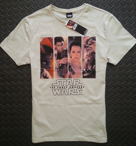 STAR WARS T SHIRT The Force Awakens Logo Sizes M - XXXL 100% Cotton - Click. Buy. Love. - 1