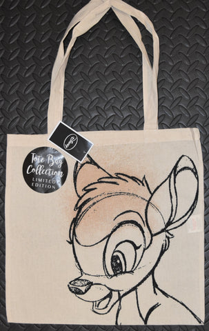 Disney Bambi CANVAS TOTE SHOPPER SHOPPING SHOULDER CARRIER BAG REUSABLE BNWT