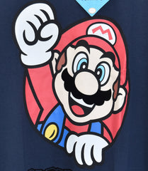 Primark Super Mario T Shirt Men's Nintendo Gamer Navy UK Sizes M - XXL