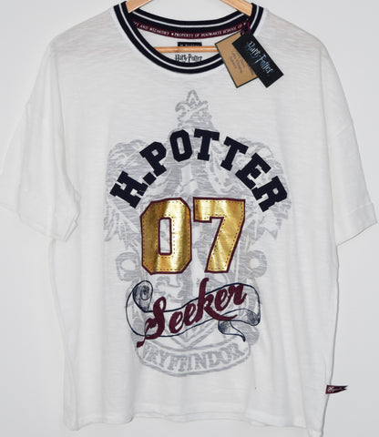 PRIMARK HARRY POTTER PJ T Shirt SEEKER Gryffindor UK sizes 6 - 20