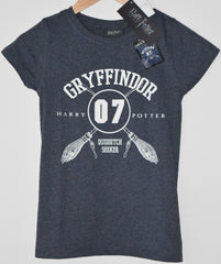 Primark Harry Potter T Shirt Gryffindor Quidditch Womens Ladies UK Sizes 4-20