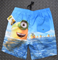 PRIMARK MINIONS Swim Shorts Beach Scene Pockets Front And Back - Click. Buy. Love. - 1
