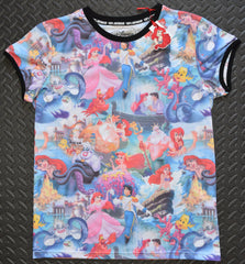 PRIMARK Little Mermaid T-Shirt Photo Collage Front And Back Sizes 6 - 20 - Click. Buy. Love. - 1