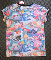 PRIMARK Little Mermaid T-Shirt Photo Collage Front And Back Sizes 6 - 20 - Click. Buy. Love. - 2