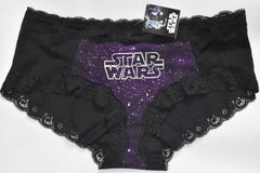 STAR WARS KNICKERS Panties Purple Black Lace Mesh WOMENS LADIES UK SIZE 6 - 20