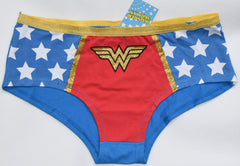 WONDER WOMAN KNICKERS Panties Classic Stars Blue Red WOMENS LADIES Size 6 - 20