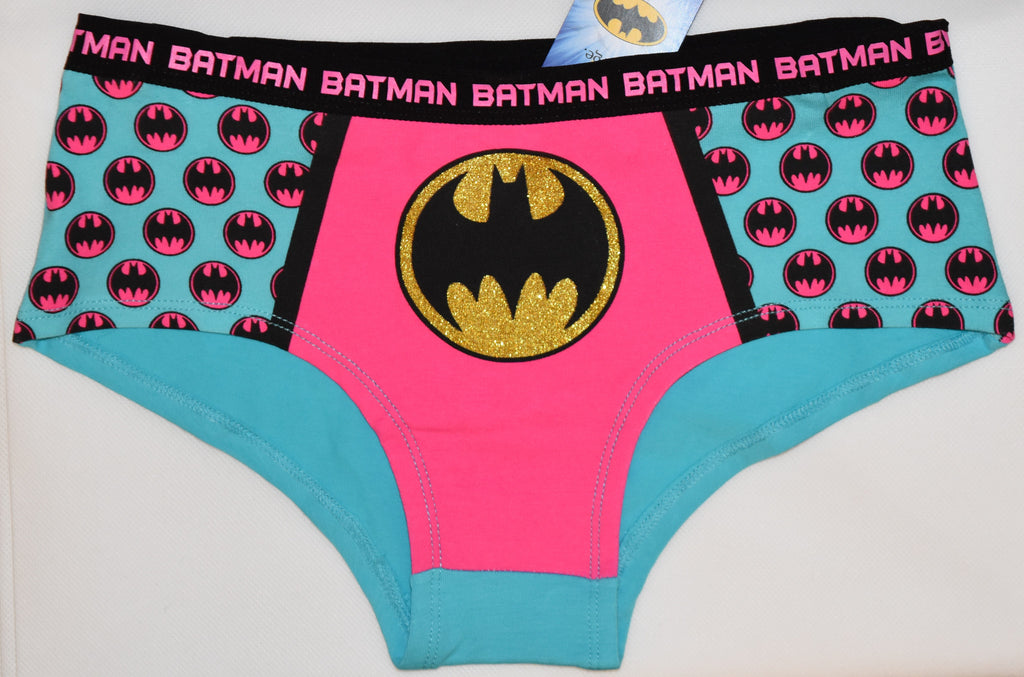 BATMAN KNICKERS OFFICIAL PINK AND BLUE STYLE WOMEN LADIES SIZE UK 20