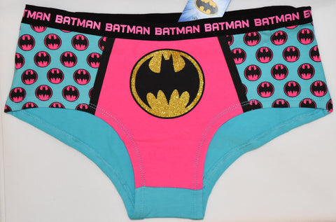 BATMAN KNICKERS OFFICIAL PINK AND BLUE STYLE WOMEN LADIES SIZES UK 6-20