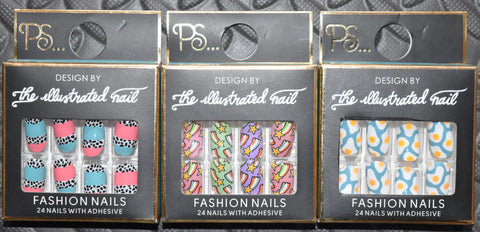 Fashion False Nails Primark The Illustrated Nail Designs Stars Fried Eggs Spots - Click. Buy. Love. - 1