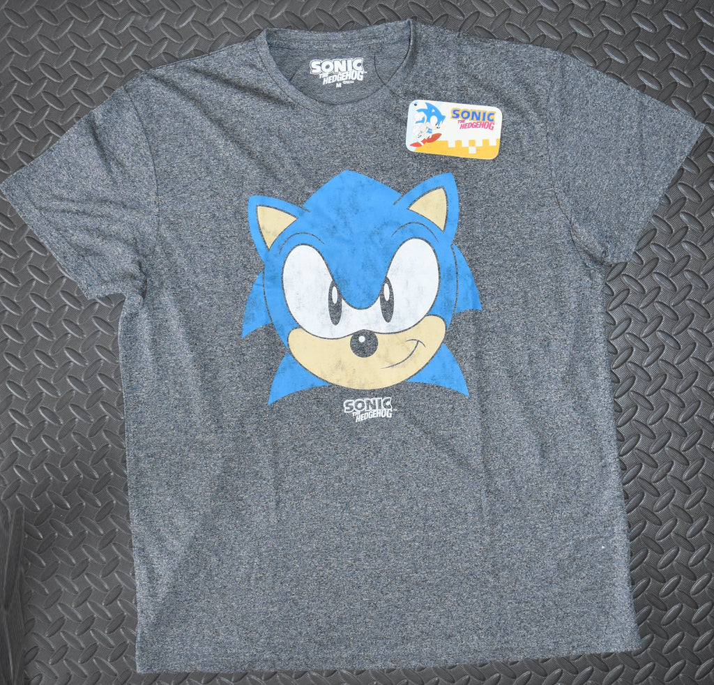 SONIC T Shirt Mens SEGA PRIMARK Gamer Grey UK Sizes M - XXL