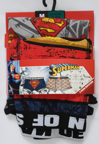 SUPERMAN Primark Pants DC COMICS Mens 2 PACK UNDERWEAR HIPSTER Sizes M - XXL