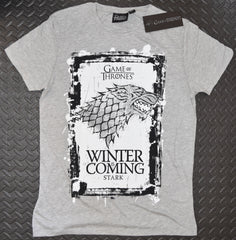 Game of Thrones T Shirt Men's GoTs Stark House Banner Sigil UK Sizes M - XXL