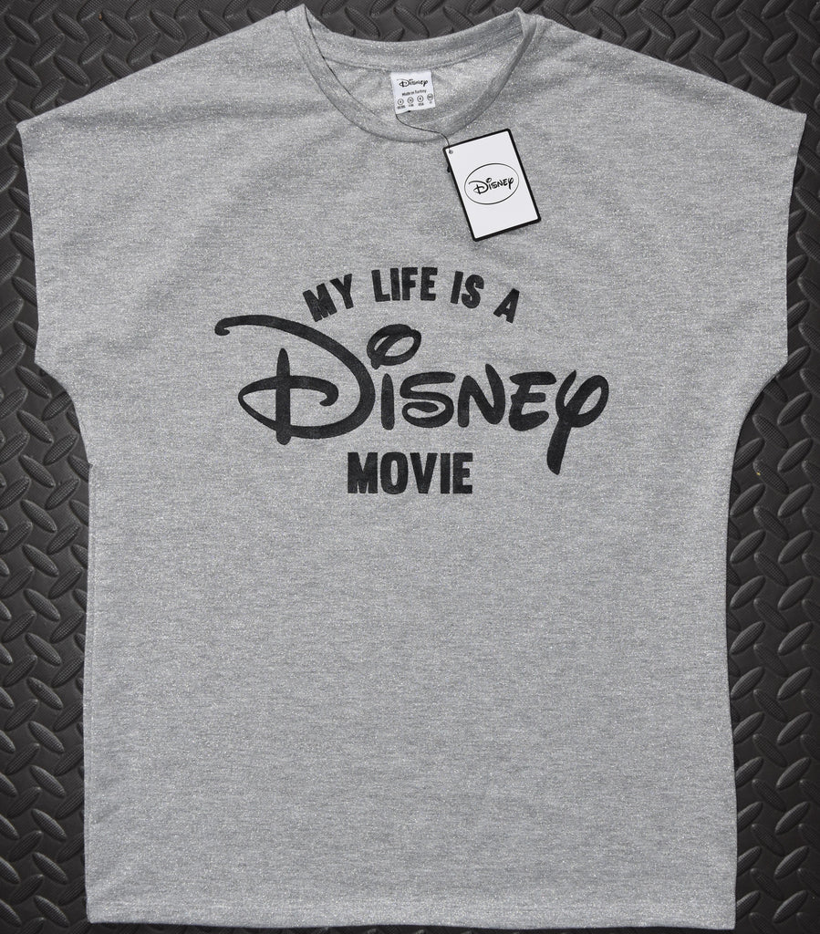 Primark Disney T Shirt MY LIFE IS A DISNEY MOVIE Ladies Sizes 12 or 16