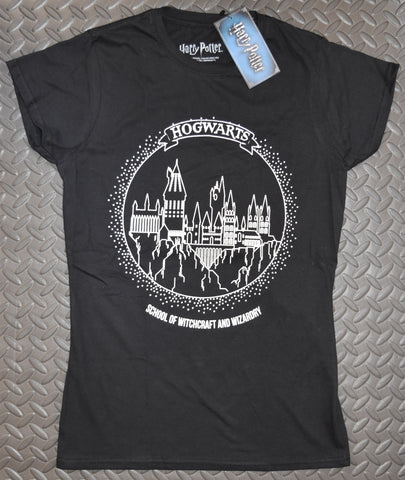 Harry Potter T Shirt Hogwarts School Logo Black PRIMARK 4 - 20 NEW
